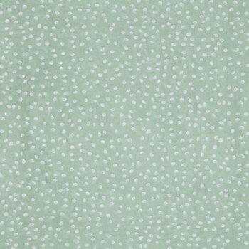 Sage & White Soft Spots Apparel Fabric
