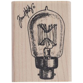 Edison Light Bulb Rubber Stamp