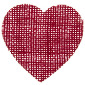 Red Burlap Hearts