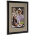 Espresso Wood Wall Frame With Burlap Mat - 11