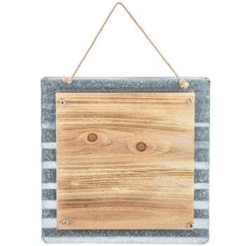 Corrugated Metal & Wood Wall Decor