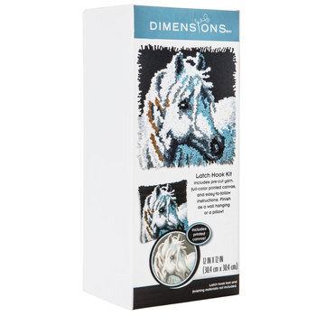 White Horse Latch Hook Kit