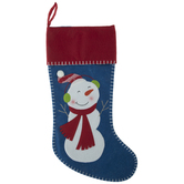 Snowman Stocking With Stitched Edge