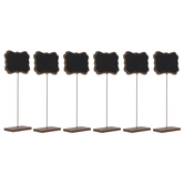 Quatrefoil Wood Chalkboard Stands