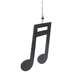 Double Music Note Wood Wall Decor