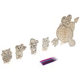 Valentine Hearts & Animals Wood Craft Kit