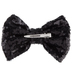 Black Sequin Bow Hair Clip