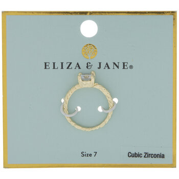 Solitaire Cubic Zirconia Ring - Size 7