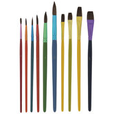 Assorted Kids Paint Brushes - 10 Piece Set