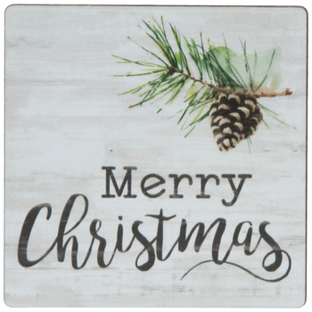 Merry Christmas Pinecone Magnet