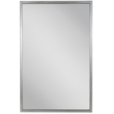 Silver Rectangle Metal Wall Mirror