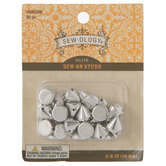 Silver Sew-On Studs - 10mm