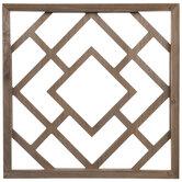 Dark Brown Geometric Cutout Wood Wall Decor