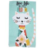 Full Bloom Cat Kitchen Towel