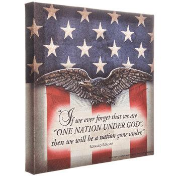One Nation Under God Canvas Wall Decor