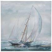 Painted Sailboat Canvas Wall Decor