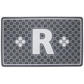 Gray Geometric Tiles Letter Doormat - R