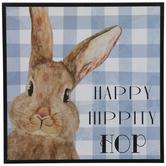 Happy Hippity Hop Bunny Wood Wall Decor