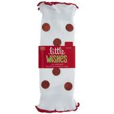 White & Red Glitter Polka Dot Baby Leg Warmers - 0 - 12 Months