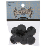 Black Faceted Dome Shank Buttons