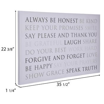 Always Be Honest Canvas Wall Decor