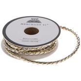 """Silver & Gold Bolo Cord Trim - 1/8"""""""