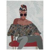 Fashion Lady Canvas Wall Decor