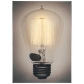 Light Up Vintage Bulb Canvas Wall Decor