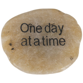 One Day At A Time Garden Stone