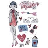 Happy Valentine's Day 3D Stickers