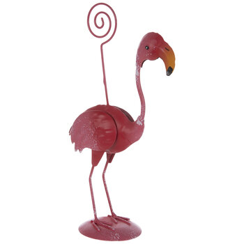 Flamingo Metal Place Card Holder