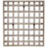 Square Trellis Wood Wall Decor With Clips