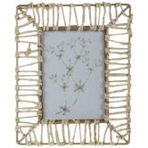 Cornstalk Wrapped Floral Framed Wall Decor