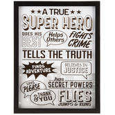 True Superhero Framed Wall Decor