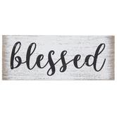 Buffalo Check Blessed Wood Wall Decor