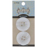 White Marble Round Buttons - 30mm