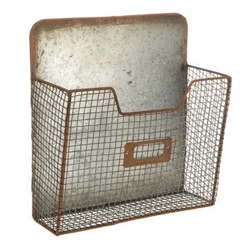 Galvanized Metal Wall Basket