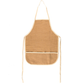 Natural Jute & Cotton Blend Adult Apron