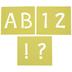 Student Uppercase Alphabet Stencils - 2