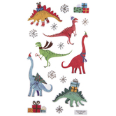 Holiday Dinosaur Stickers