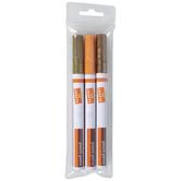 Orange, Gold & Bronze Paint Pens - 3 Piece Set