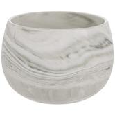 White & Black Marble Flower Pot