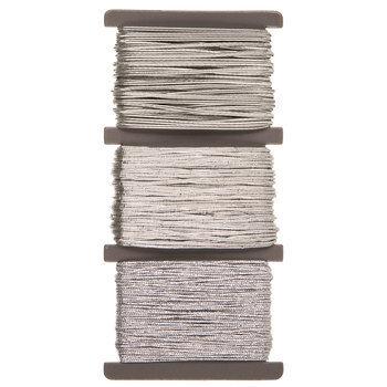 Silver Elastic Bead Cord