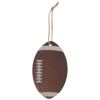 Brown Glitter Football Ornaments