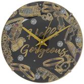 Hello Gorgeous Jewelry Clock