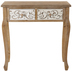 Whitewash Ornate Table With Drawers