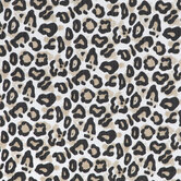 White, Tan & Black Leopard Print Fabric