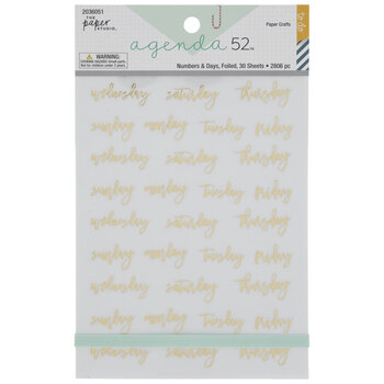 Days & Numbers Foil Stickers
