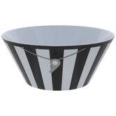 Black & White Striped Referee Bowl