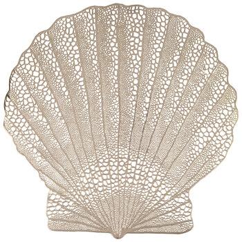 Metallic Gold Seashell Placemat
